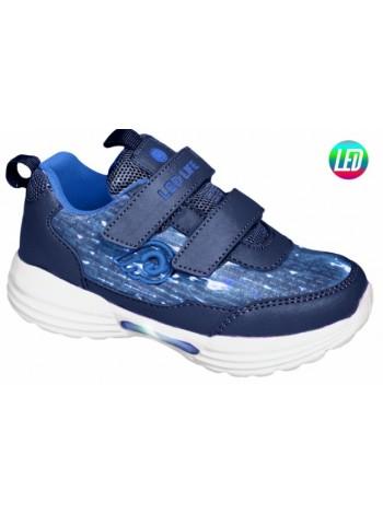 Кроссовки со светодиодами INDIGO 90-248C/6 синий (25-30)