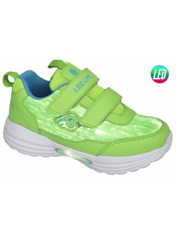 Кроссовки со светодиодами INDIGO 90-248D/6 зеленый (25-30)