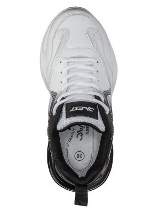 Кроссовки QWEST 211K-F23-2210 белый/черный (35-40)