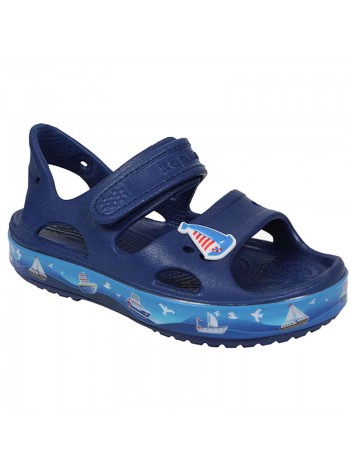 Пляжная обувь со светодиодами Kapika 82193 синий (25-30)