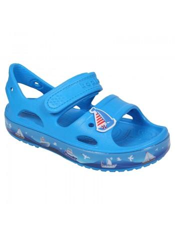 Пляжная обувь со светодиодами Kapika 82193 голубой (25-30)
