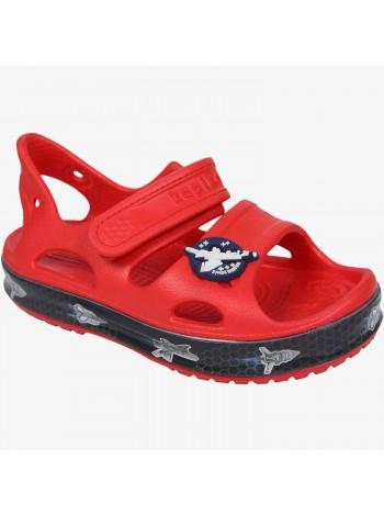 Пляжная обувь со светодиодами Kapika 82192 красный (25-30)