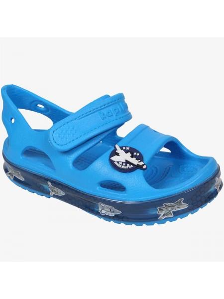 Пляжная обувь со светодиодами Kapika 82192 голубой (25-30)
