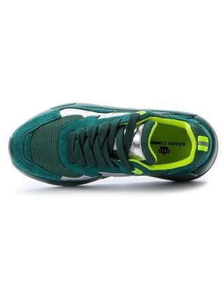 Кроссовки KEDDO 517122/07-03 зеленый/серебряный (33-38)