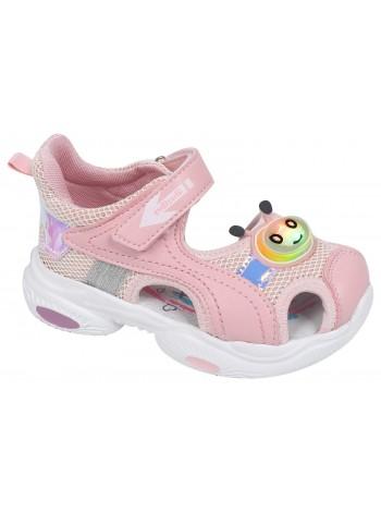 Туфли открытые со светодиодами Tom&Miki B-9258-B розовый (25-30)
