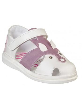 Туфли открытые BUMI 3214-11 белый/розовый (23-26)