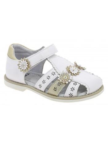 Туфли открытые KENKA XGP_10319-1_WHITE-GOLD белый (26-31)