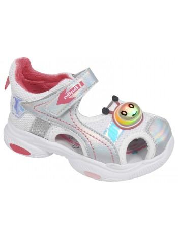 Туфли открытые со светодиодами Tom&Miki B-9258-C серебро (25-30)
