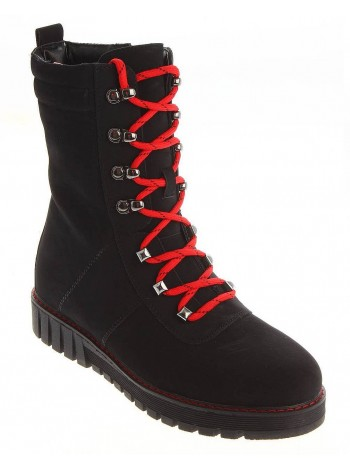 Ботинки зимние KEDDO 598238/03-01 черный/красный (33-39)