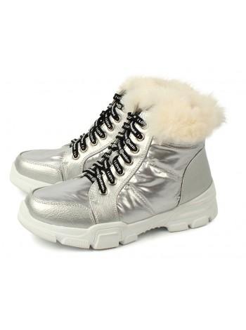 Ботинки зимние Antilopa AL 202103 серебро (33-38)