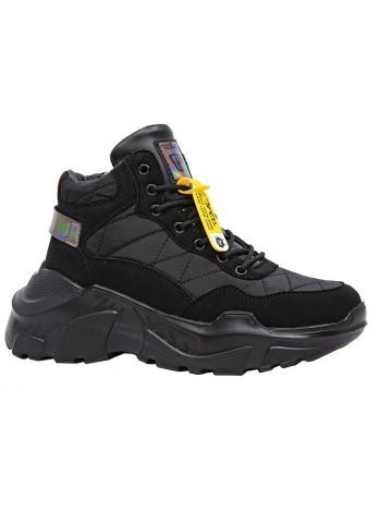 Ботинки QWEST 202B-F22-2131 черный (35-40)