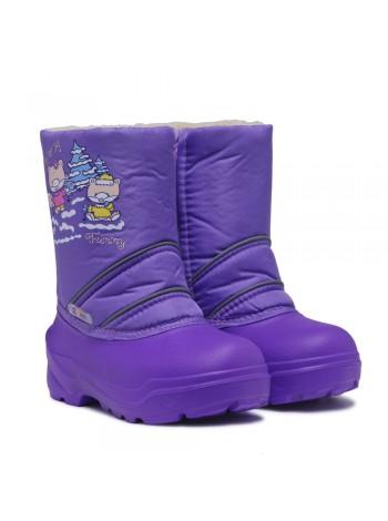Сноубутсы Дюна 575 лисята/фиолетовый (27-33)