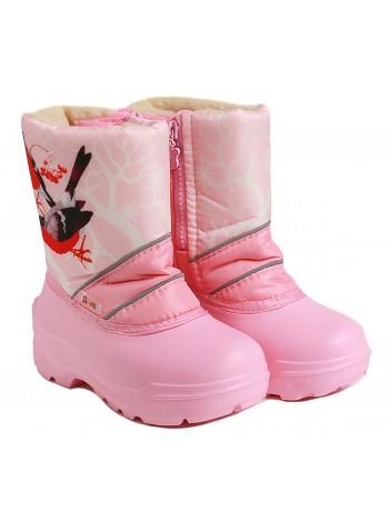 Сноубутсы Дюна 576 снегири/н.розовый (27-33)