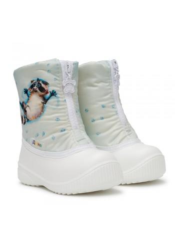 Сноубутсы Дюна 566/01 енотик в снегу/белый (21-26)