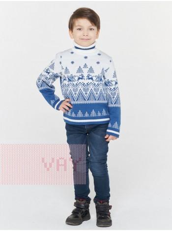 Свитер детский 212-6234 деним/белый (92-122)
