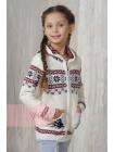 Жакет для девочек 10007 молоко/красный/т.синий (30-40)