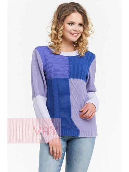Джемпер женский 182-4732 лаванда/ниагара/фиолет/пыльная лаванда (44-54)