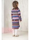 Платье для девочек 6149 т.антрацит/красный мак/св.сер.меланж/звездный/белый (104-116)