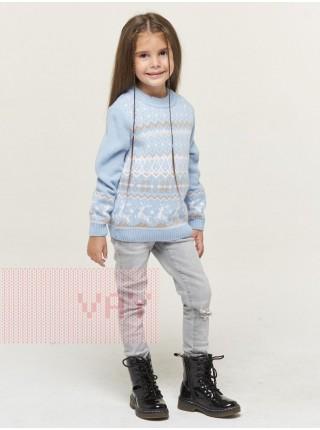 Джемпер детский 202-6231 голубой/белый/латте (92-122)