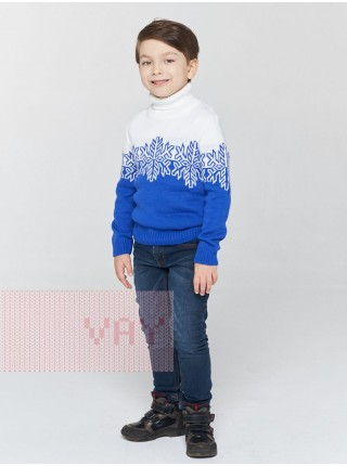 Свитер детский 202-6188 электрик/белый (98-122)