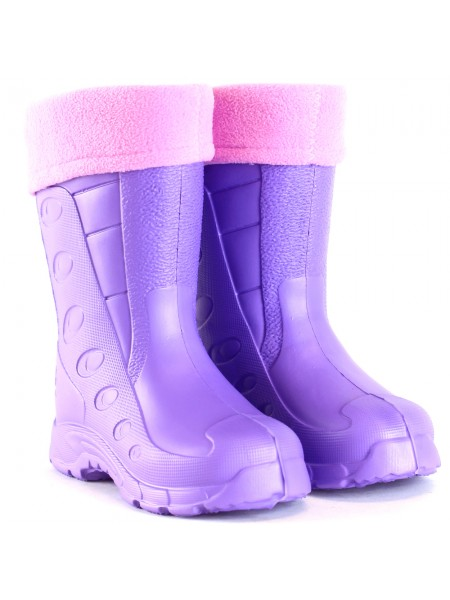 Резиновые сапоги Дюна 430 УФ фиолетовый/розовый (29-34)