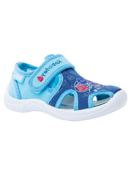 Текстильная обувь Котофей 221048-12 синий (23-24)