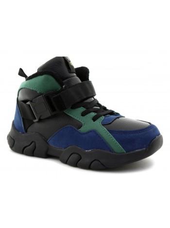 Ботинки М+Д 9547-18 зеленый (32-37)