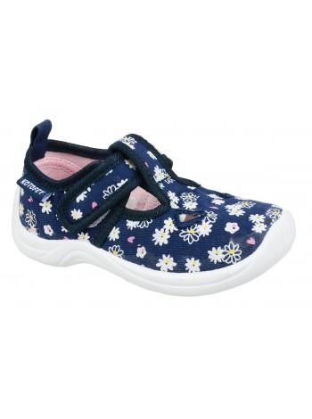 Текстильная обувь Котофей 231116-11 синий/розовый (22-25)