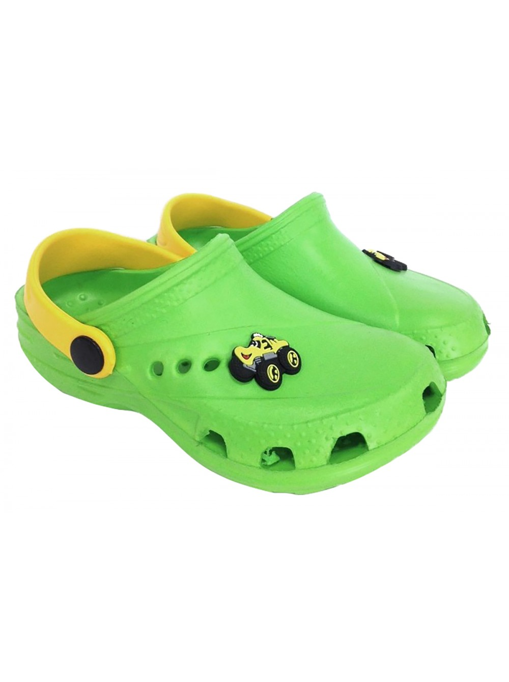 Кроксы Дюна 601/01M зеленый/желтый (27-34)