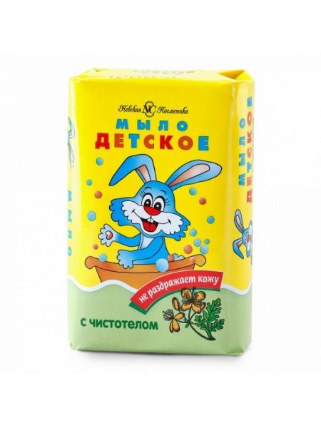 Мыло туалетное Детское с чистотелом Невская косметика 90г