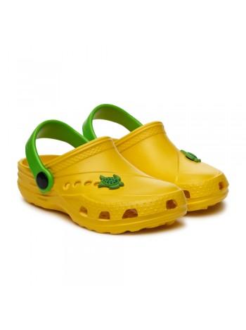 Кроксы Дюна 601/01M желтый/зеленый (27-34)