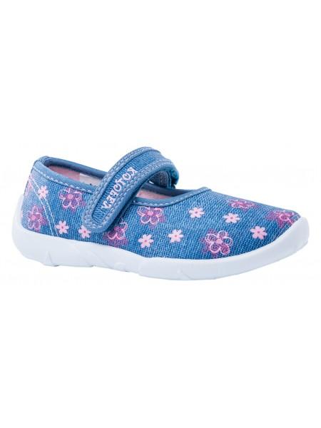 Текстильная обувь Котофей 431128-13 синий/розовый (26-31)