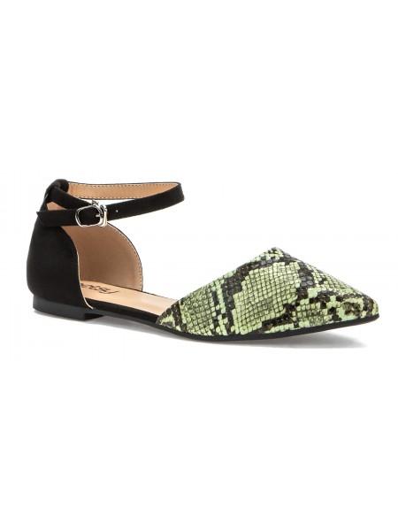 Туфли открытые BETSY 907750/01-02 черный/зеленый (36-41)