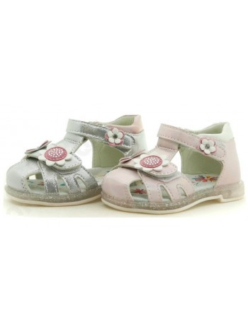 Туфли открытые Микаса BV0206 серебро (22-27)