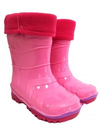 Сапоги резиновые Дюна 220/03 Y розовый/фуксия (23-26)