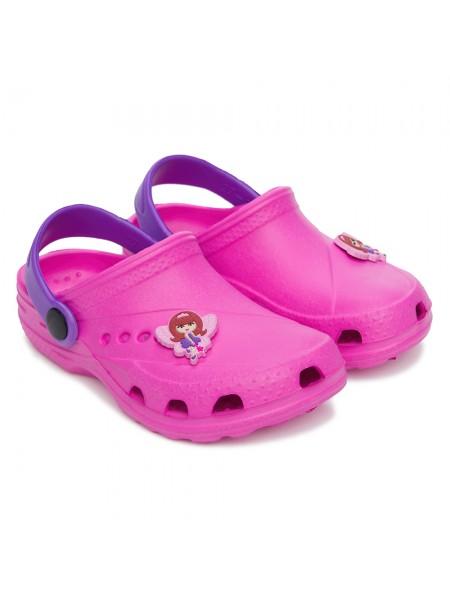 Кроксы Дюна 601/01M розовый/фиолетовый (27-34)
