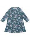 Платье KoganKids 221-331-35 зеленый цветы (92-134)