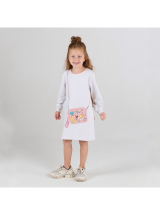 Платье KoganKids 231-329-25 бежевый принт сумка (92-128)