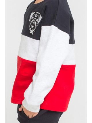 Джемпер Crockid КР 300769 черный-серый-красный (92-140)