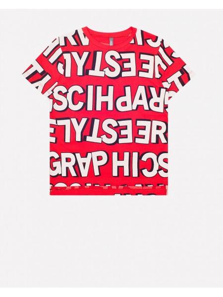 Футболка Crockid КР 300770 красный буквы (92-140)