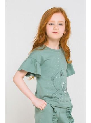 Блузка Crockid КР 300778 серо-зеленый (92-140)
