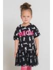 Платье Crockid КР 5551 черный мультгерой (92-140)