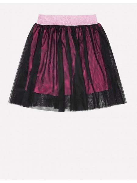 Юбка Crockid КР 7107 черный-я.розовый (92-140)