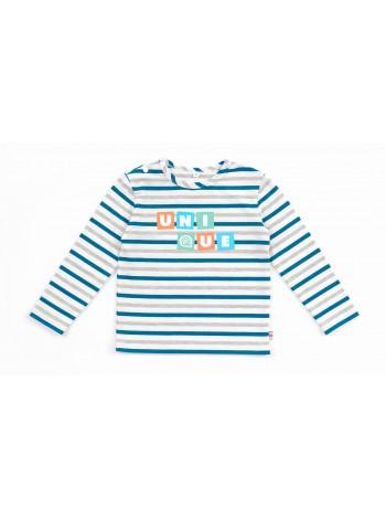 Лонгслив Candy's 036BC0592Am серо-голубая полоска (98-128)