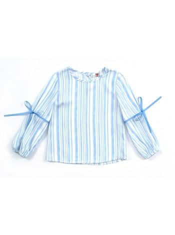 Блуза Candy's 036GC0414m бело-голубая полоска (98-128)