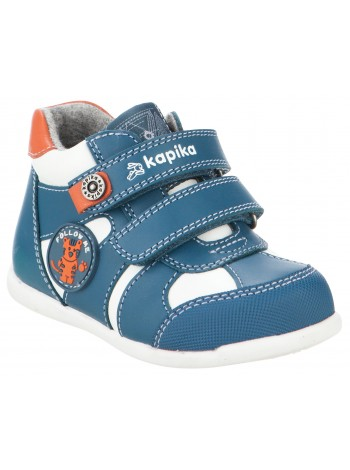Ботинки Капика 51234YK-1 белый-синий (21-24)