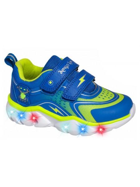 Кроссовки со светодиодами INDIGO 90-259A/10 синий (23-27)