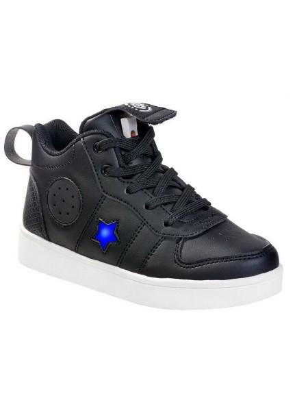 Ботинки с Bluetooth колонками Зебра 13811-1 черный (30-35)