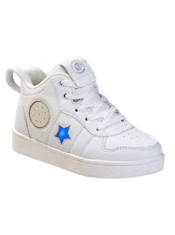 Ботинки с Bluetooth колонками Зебра 13812-2 белый (30-35)