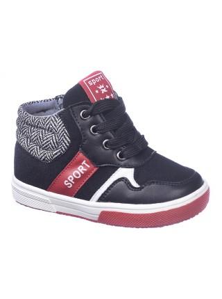 Ботинки Счастливый ребёнок N8763 черный (21-26)